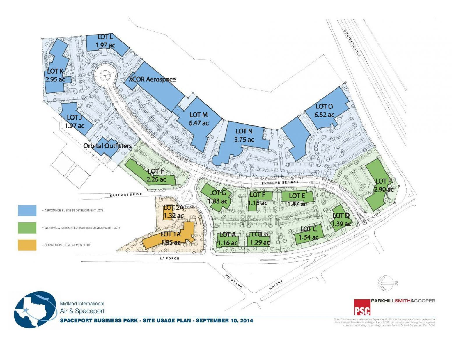 Concenptual Site Usage Plan with Plot Acres